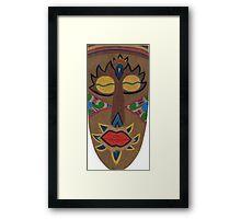 African Mask Framed Print