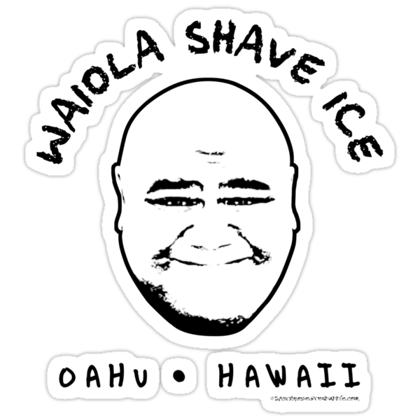 Hawaii 5-0 Waiola Shave Ice Logo (Black) by Sharknose