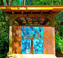 Decorative Tile Art In The Garden by Jonathan  Green