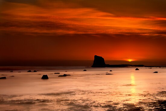 Saltwick Bay Sunrise by Svetlana Sewell