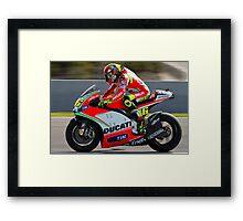 Valentino Rossi in Jerez 2012 Framed Print