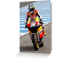 Dani Pedrosa in Jerez 2012 Greeting Card