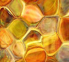 golden honeycomb abstract art by tabbygun