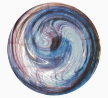 Blue Paua Abstract faux shell by tabbygun