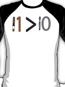 Doctor who 11 is greater than 10 T-Shirt