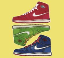 AIR JORDANS 1 RETRO FITTED: RED|GREEN|BLUE Kids Clothes