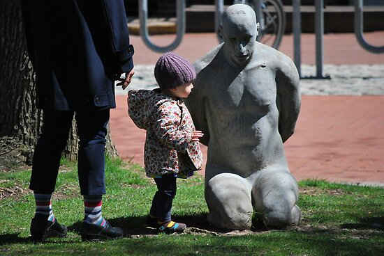 Child at Prisoner of War Sculpture by depsn1