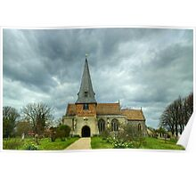 The Church Of Saints Peter & Paul,Steeple Mordern Poster