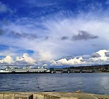 Edmonds Ferry, Washington State by Barb White