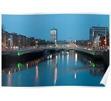 Dublin at night Poster