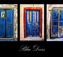 blue doors of Santorini by meirionmatthias