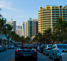 Collins Avenue Ferrari South Beach Florida by Henry Plumley