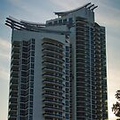 Murano Grande Condo Tower Sunset South Beach Florida by Henry Plumley