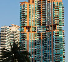 Tall Wide Shot of Portofino Tower South Beach Florida by Henry Plumley