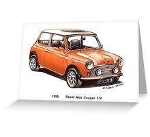 1990 Rover Mini Cooper Car Greeting Card