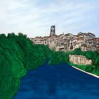 City of Fribourg and Sarine river by jntvisual