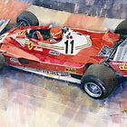 Ferrari 312 T2 Niki Lauda 1977 Monaco GP  by Yuriy Shevchuk