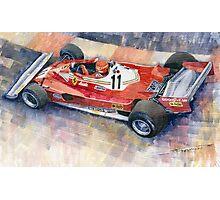 Ferrari 312 T2 Niki Lauda 1977 Monaco GP  Photographic Print