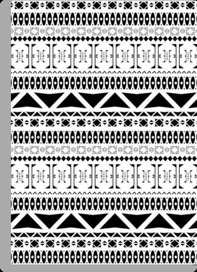 Black & White Aztec Pattern by gameriot