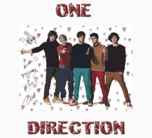 One Direction Art with Autograph T-Shirt by kmercury