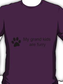 My Grand Kids Are Furry (Cat Paw)  T-Shirt