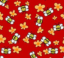 Bee Happy Honey Bees by SpiceTree