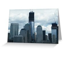 The New World Trade Center Reaches 100 Floors, Lower Manhattan, New York Greeting Card