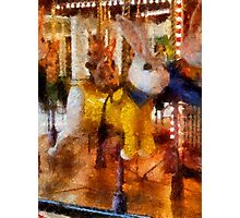 Childhood Dreams II - The Easter Bunny Rides Again Photographic Print