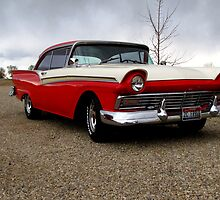 57 Ford Fairlane 500 by trueblvr