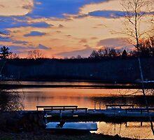 February sunset..temp 70's! by Nancy Rohrig
