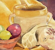 Gourds, Still Life in water colours by Emily King