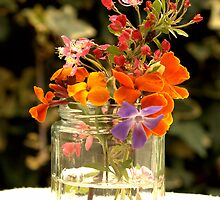 Flower jar. by Roz Castle