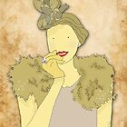 Vintage Girl with Sparkles by Victoria Ellis