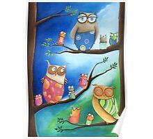Owls School Poster
