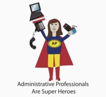 Administrative Professional Super Hero (Brunette) Kids Clothes