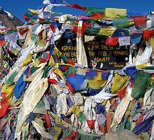Prayer Flags top of Thorung La by SerenaB