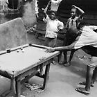 Kids Playing Snooker by Muyiwa