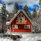 The Mountain Cabin In The Snow by Diana Graves Photography