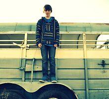 Boy on a Horse Trailer by TiffanieH