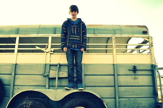 Boy on a Horse Trailer by TiffanieH