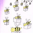 Bees carry sugar by Initially NO