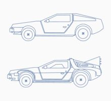 Back to the future delorean blueprints by Scott Barker