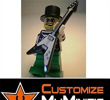 Customize My Minifig Collector Card 5 - Custom LEGO® 'Emo Guitarist' by Chillee