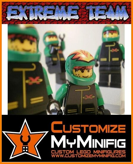 Customize My Minifig Collector Card 9 - Custom LEGO® 'Extreme Team' by Chillee