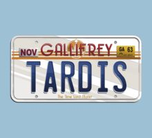 TARDIS License Plate Kids Clothes