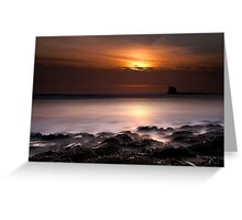 Saltwick Bay in the morning Greeting Card