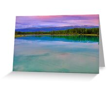 Pink upon turquoise Greeting Card