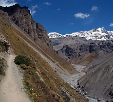 The Path to Thorung Phedi by SerenaB