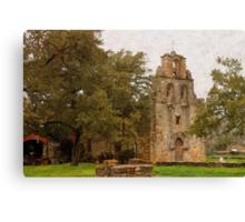 Mission Espada in Digital Oil Canvas Print