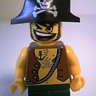 LEGO® Pirate Captain Minifigure with Flame Torch, by 'Customize My Minifig' by Chillee